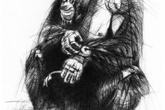 Oliver-Gerke-Tierzeichnung-Schimpanse